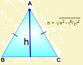 Формула высоты равнобедренного треугольника