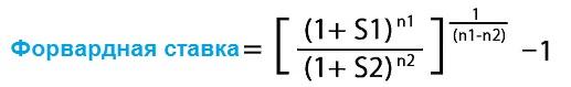 Формула расчета форвардной ставки